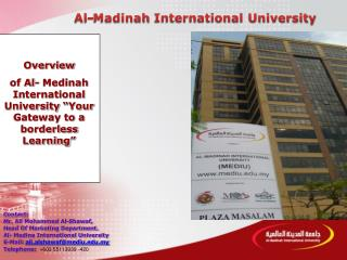 Contact: Mr. Ali Mohammed Al-Shawaf, Head Of Marketing Department.
