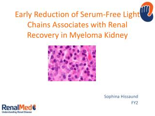 Early Reduction of Serum-Free Light Chains Associates with Renal Recovery in Myeloma Kidney