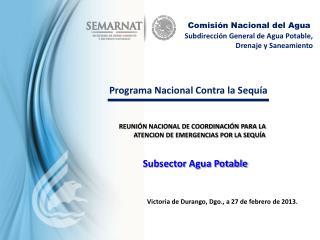 Subdirección General de Agua Potable, Drenaje y Saneamiento