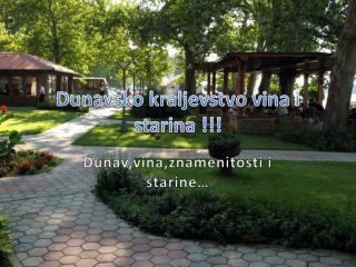 Dunavsko kraljevstvo vina i starina !!!