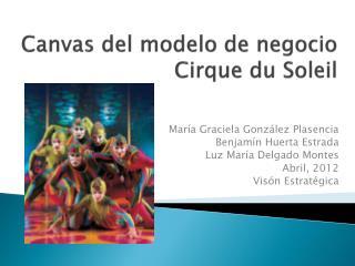 Canvas del  modelo  de  negocio Cirque du Soleil