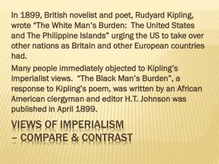 Views of Imperialism  � compare & Contrast