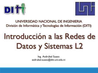 Introducción a las Redes de Datos y Sistemas L2