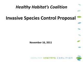 Healthy Habitat's Coalition