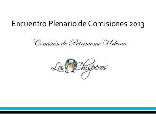 Encuentro Plenario de Comisiones 2013
