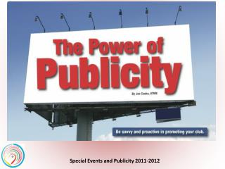 PROJECT THE PASSION  through  PUBLICITY