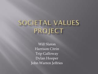 Societal Values Project