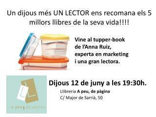 Un  dijous més  UN LECTOR  ens recomana els  5  millors llibres  de la  seva  vida!!!!