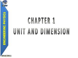 CHAPTER 1 UNIT AND DIMENSION