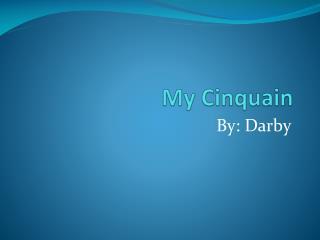 My  Cinquain