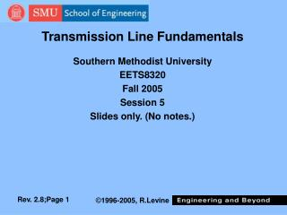 Transmission Line Fundamentals