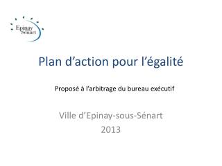 Plan d'action pour l'égalité