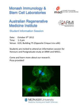 Monash Immunology & Stem Cell Laboratories Australian Regenerative  Medicine Institute