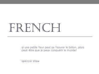 f rench