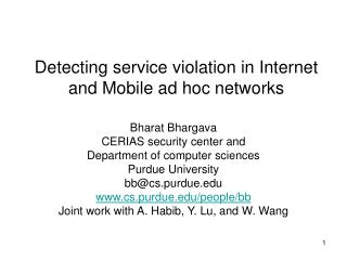 Detecting service violation in Internet and Mobile ad hoc ...