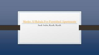 Maskn Al Rahala For Furnished Apartments - Holdinn