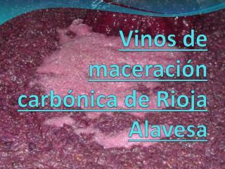 Vinos de maceración carbónica de Rioja Alavesa