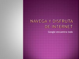Navega y disfruta de internet