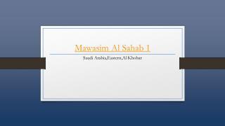 Mawasim Al Sahab 1 - Holdinn