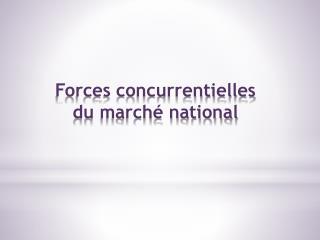 Forces concurrentielles du marché national
