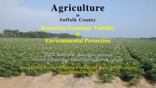 Agriculture in Suffolk County Balancing Economic Viability  &  Environmental Protection