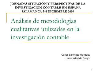An lisis de metodolog as cualitativas utilizadas en la investigaci n contable