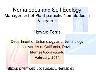 Nematodes and Soil Ecology Management of Plant-parasitic Nematodes  in Vineyards