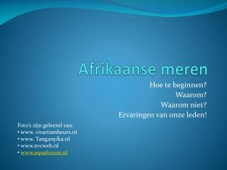 Afrikaanse meren