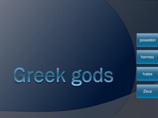 Greek gods