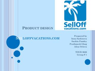Product design Sel loffvacations.com