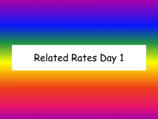 Related Rates Day 1