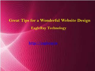 Great Tips for a Wonderful Website Design