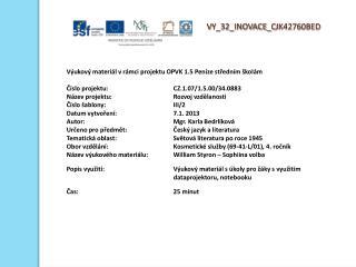 V Y_32_INOVACE_ C JK42760BED