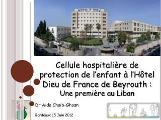 LA CELLULE DE  PROTECTION  DE L'ENFANT(CPE ) enfance@hdf.usj.edu.lb PROBLEMATIQUE
