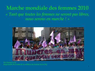 La Marche mondiale des femmes (MMF) Décision de Congrès