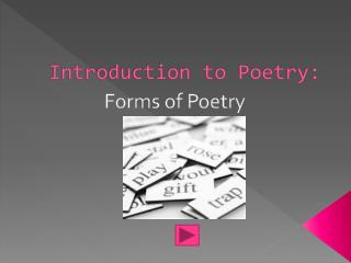 Introduction to Poetry: