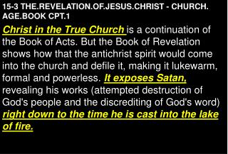 15-3 THE.REVELATION.OF.JESUS.CHRIST - CHURCH. AGE.BOOK CPT.1