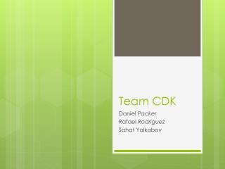 Team CDK