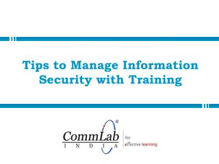 Tips to Manage Information Security with Training