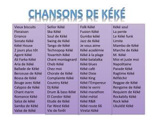 Chansons de  Kéké