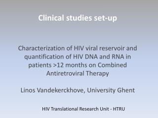 HIV Translational Research Unit - HTRU