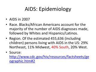 AIDS: Epidemiology