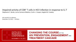 Impaired activity of CD8 +  T cells in HCV infection in response to  IL-7