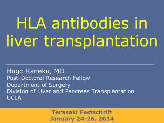 HLA antibodies in liver transplantation