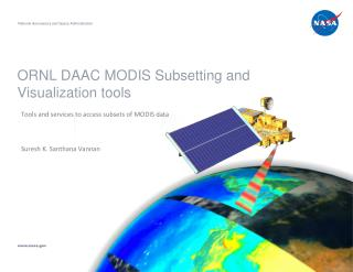 ORNL DAAC MODIS Subsetting and Visualization tools