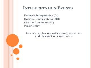 Interpretation Events
