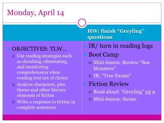Monday, April 14