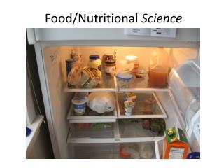 Food/Nutritional  Science