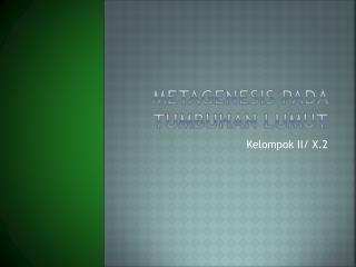 Metagenesis pada tumbuhan lumut