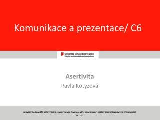 Komunikace a prezentace/ C6